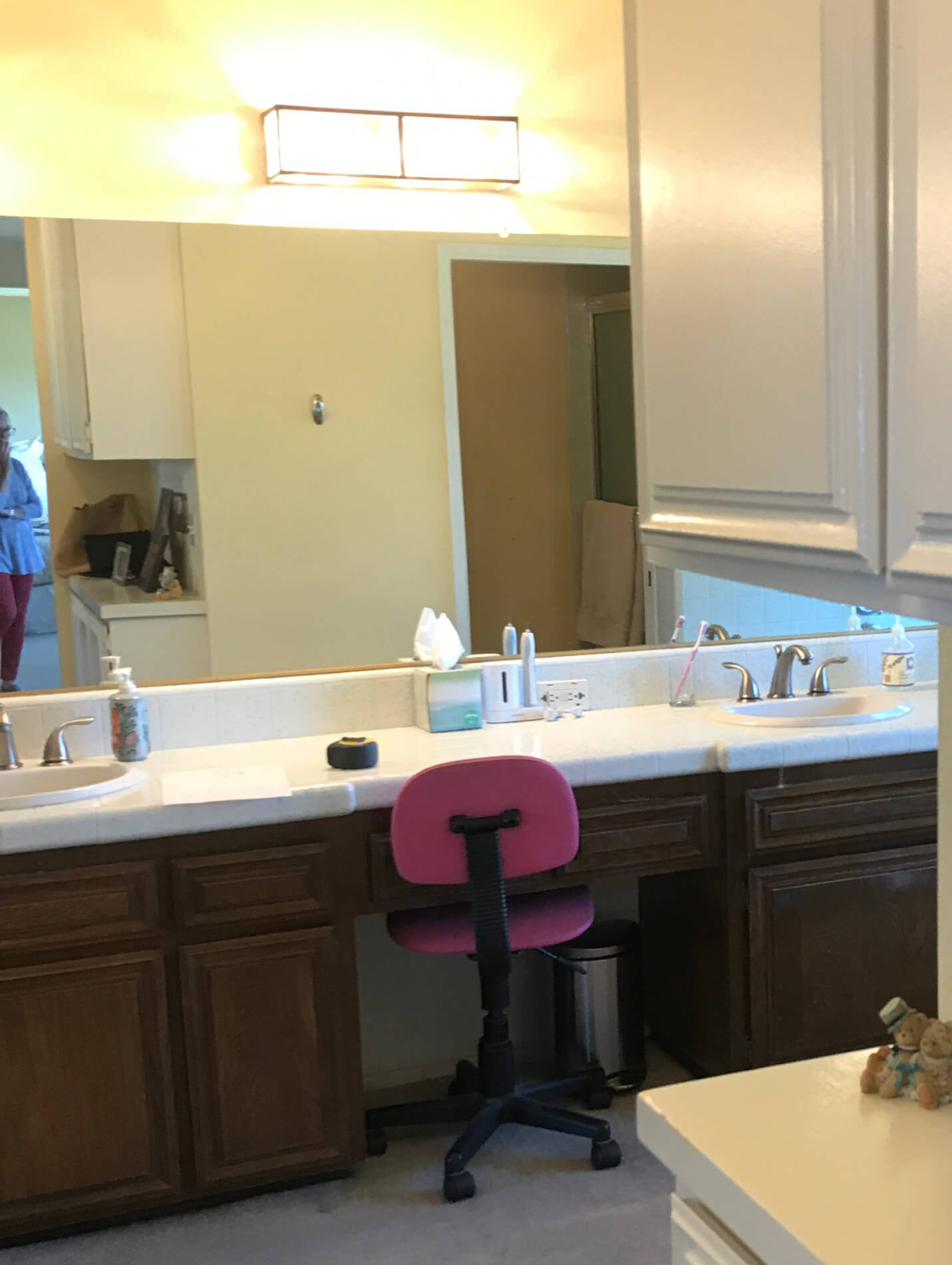 Dual-vanity-before-picture-prior-to-remodel