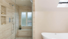 Custom shower niches in Laguna Hills remodel