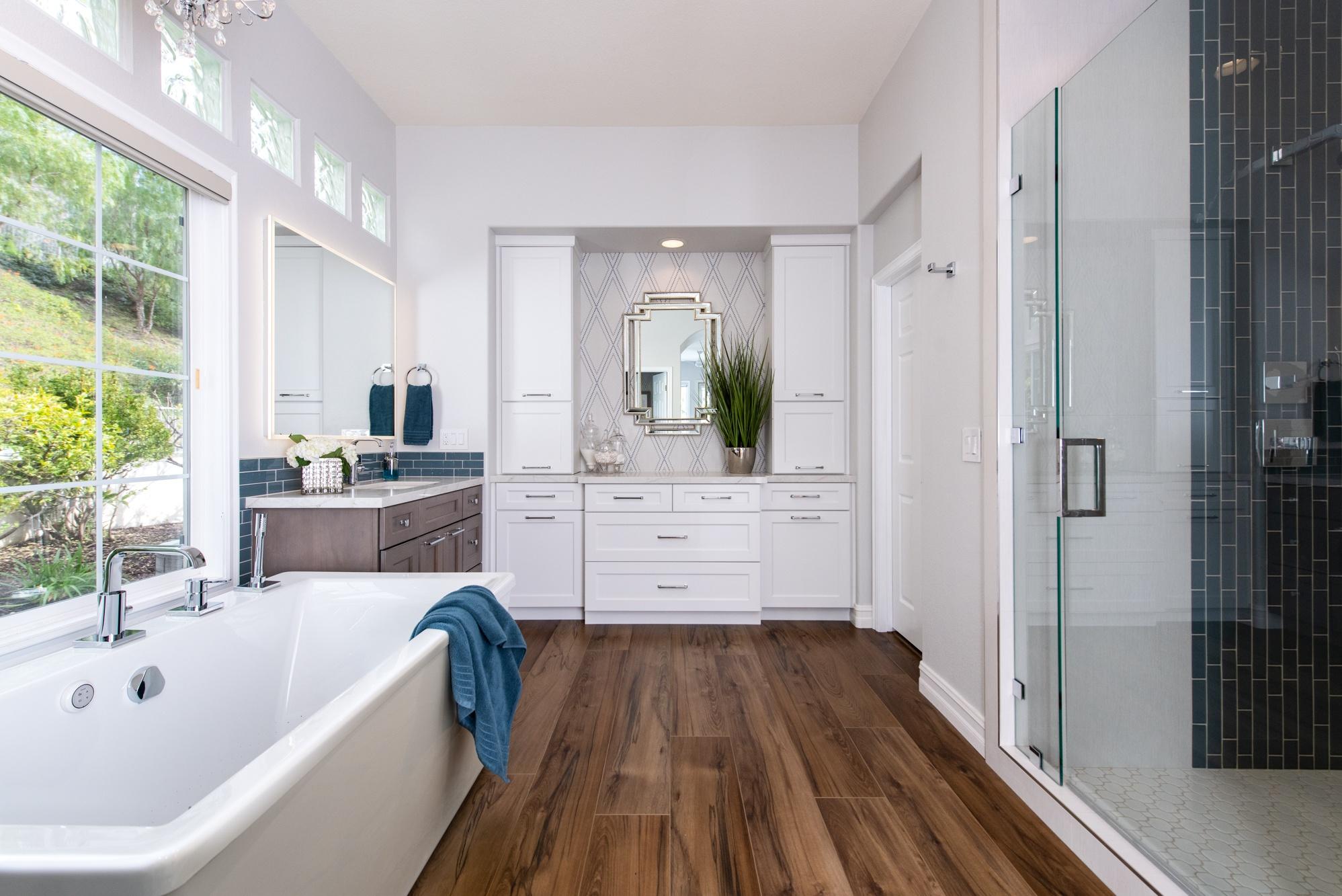 Luxury-vinyl-flooring-in-Rancho-Santa-Margarita-master-bathroom-renovation