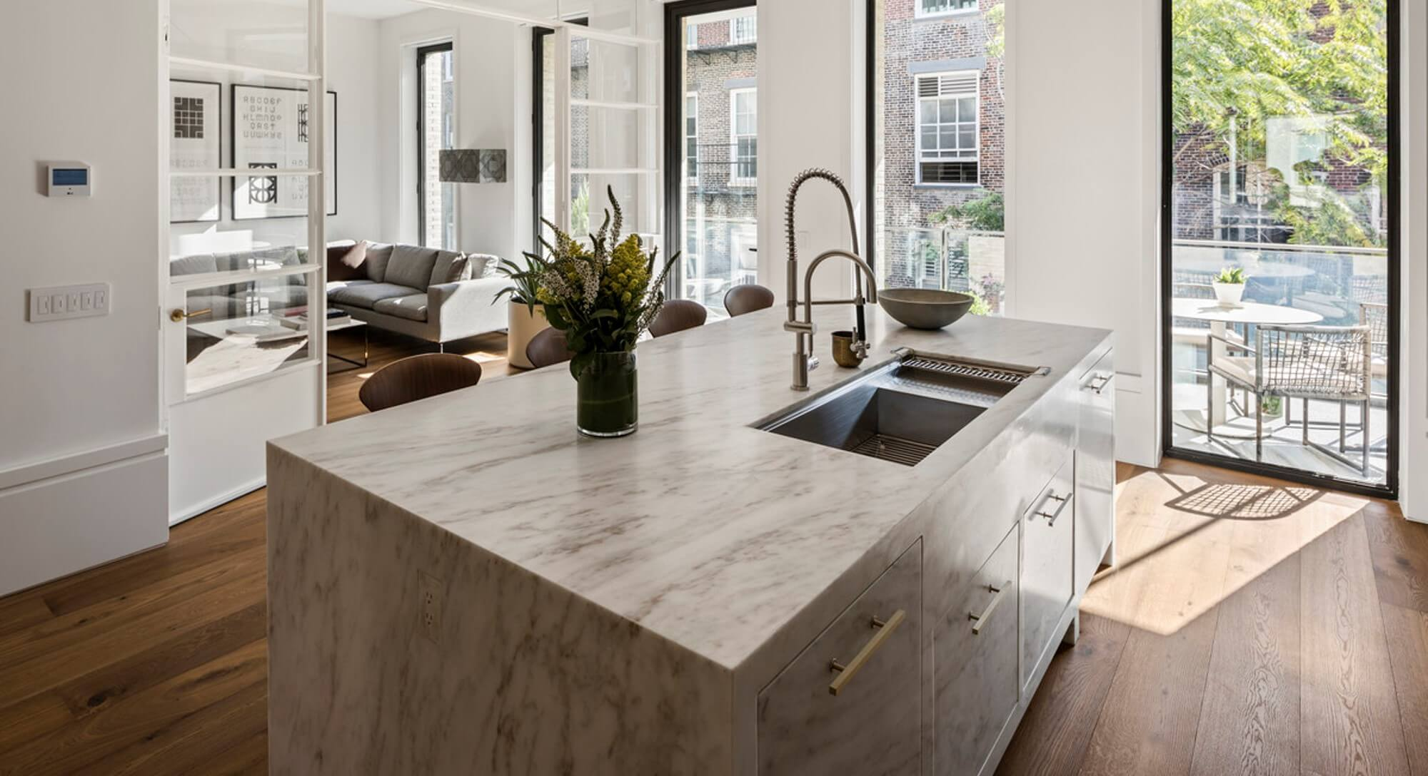 Marble countertops stain easy