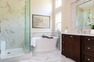 Beautiful Master Bathroom Remodel in Newport Coast