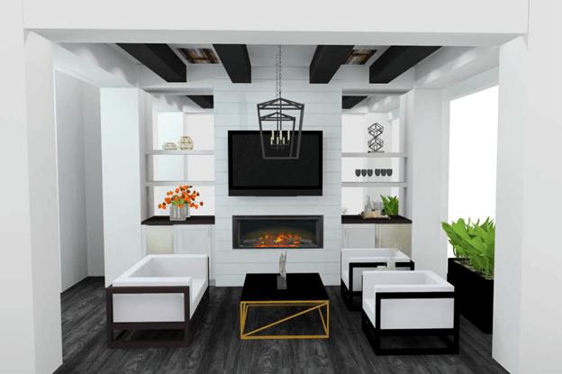 California Room 3D Color Renderings