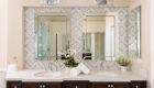 double-vanity-sink-with-statement-piece-backsplash-in-bathroom-remodel