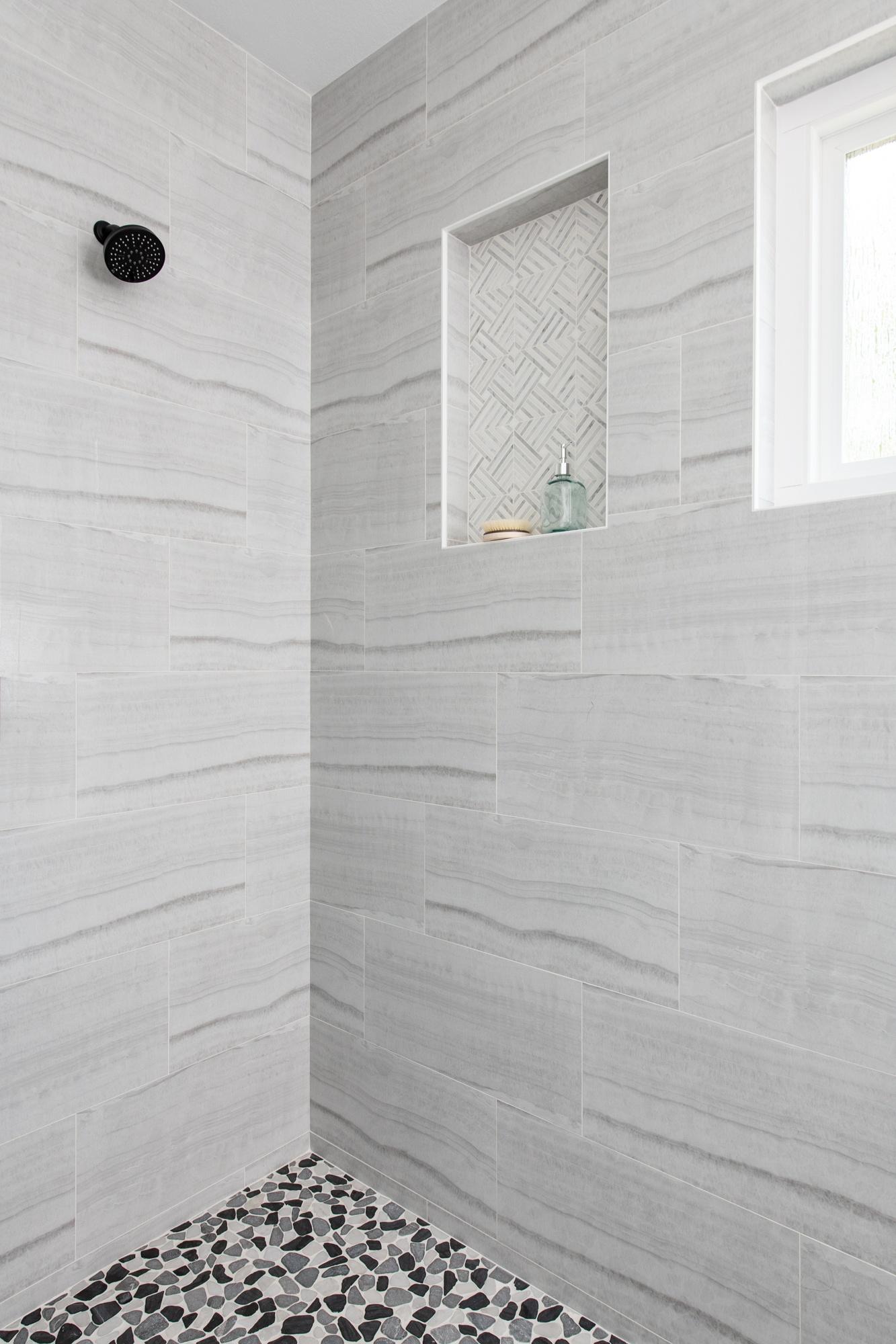 Ladera Ranch Bathroom Remodel With Porcelain Shower Tile