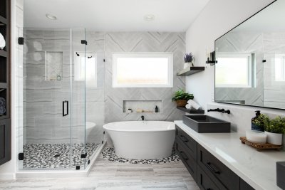 Bright and Airy Master Bathroom Remodel in Ladera Ranch