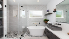 Glass-walk-in-shower-with-accent-in-remodel