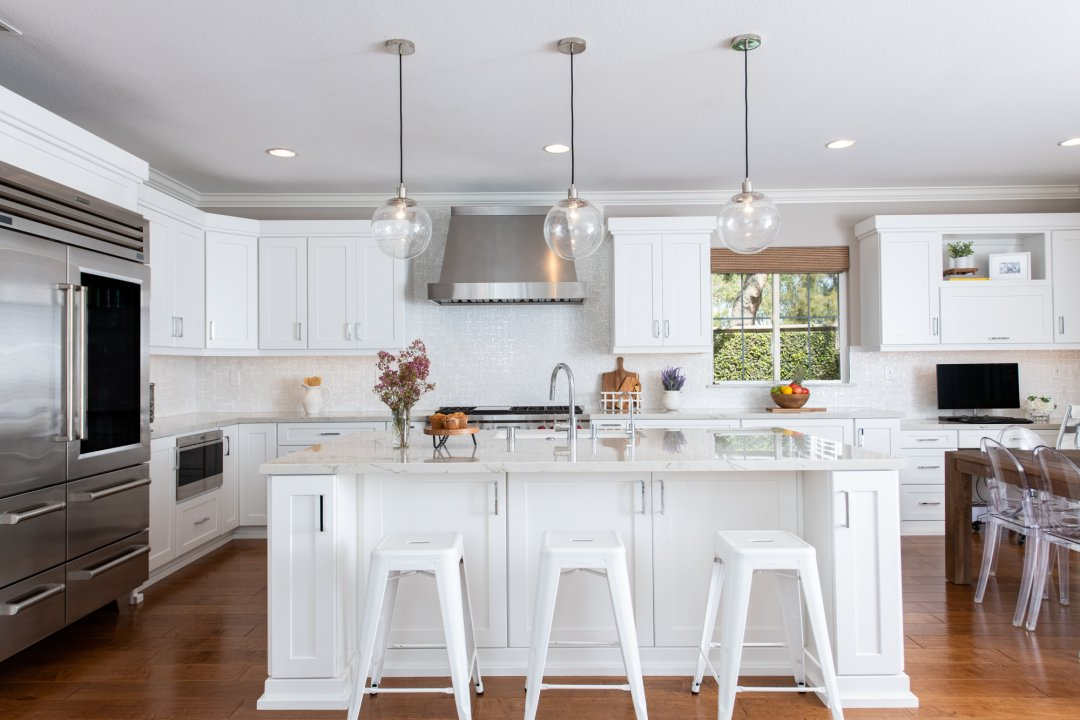 Elevated Irvine Kitchen Remodel with Desk Area