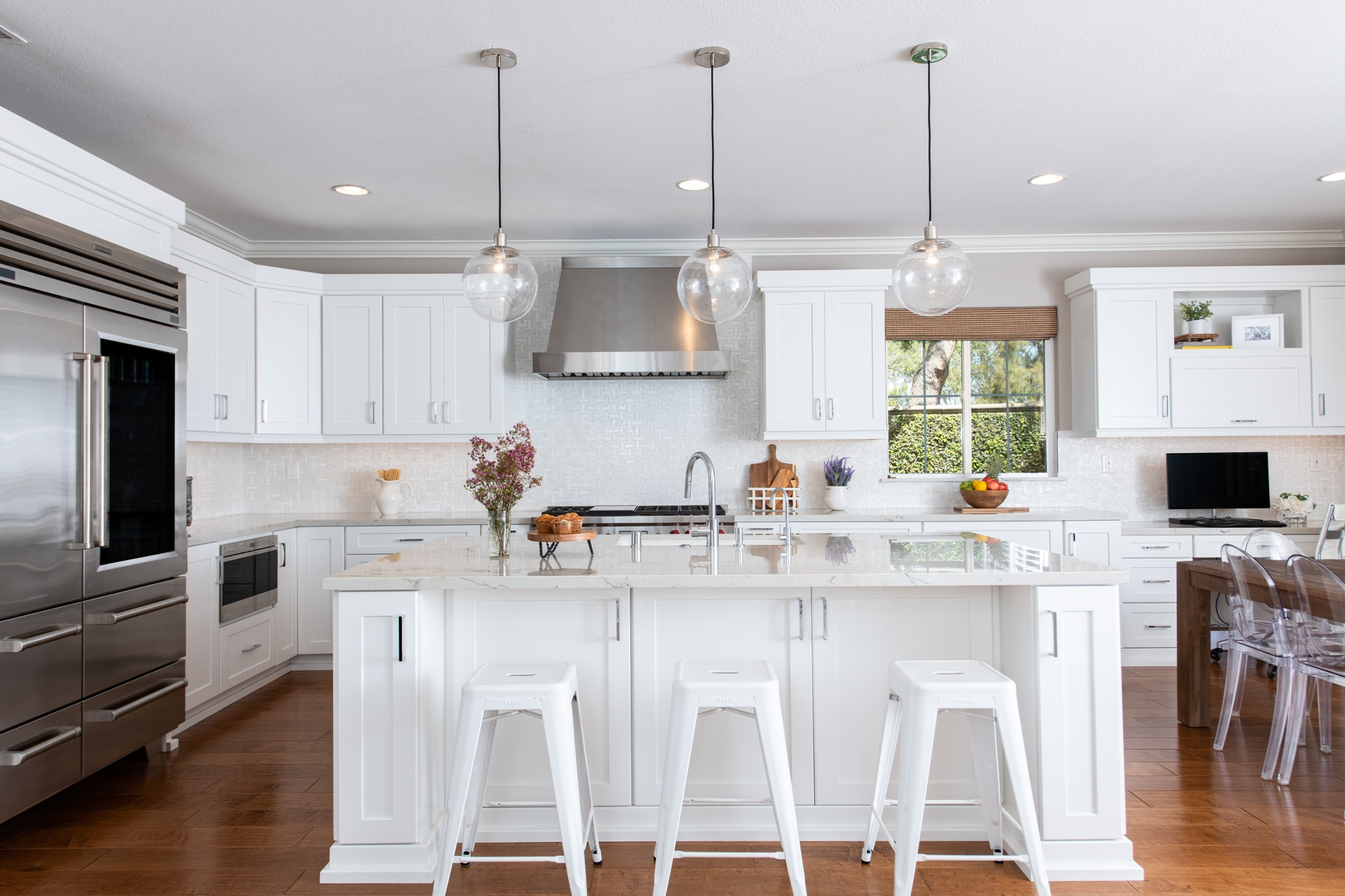 kitchen remodel with pendant lights