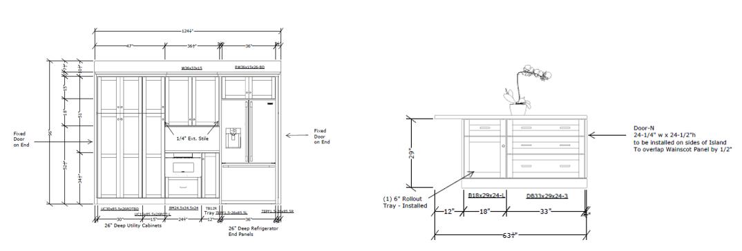 Alternate side of kitchen elevations