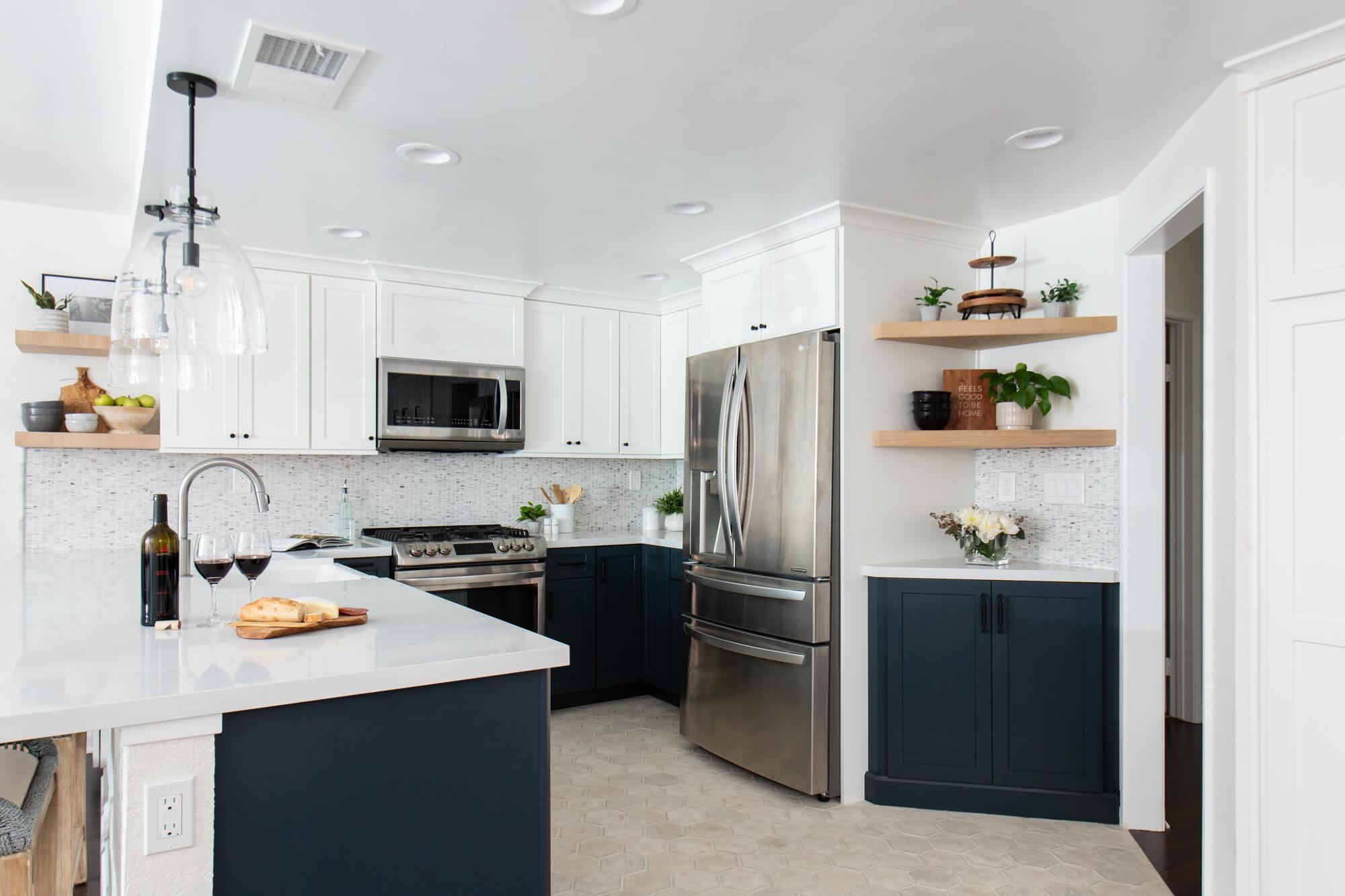 Modern kitchen design for Laguna Niguel farmhouse kitchen remodel