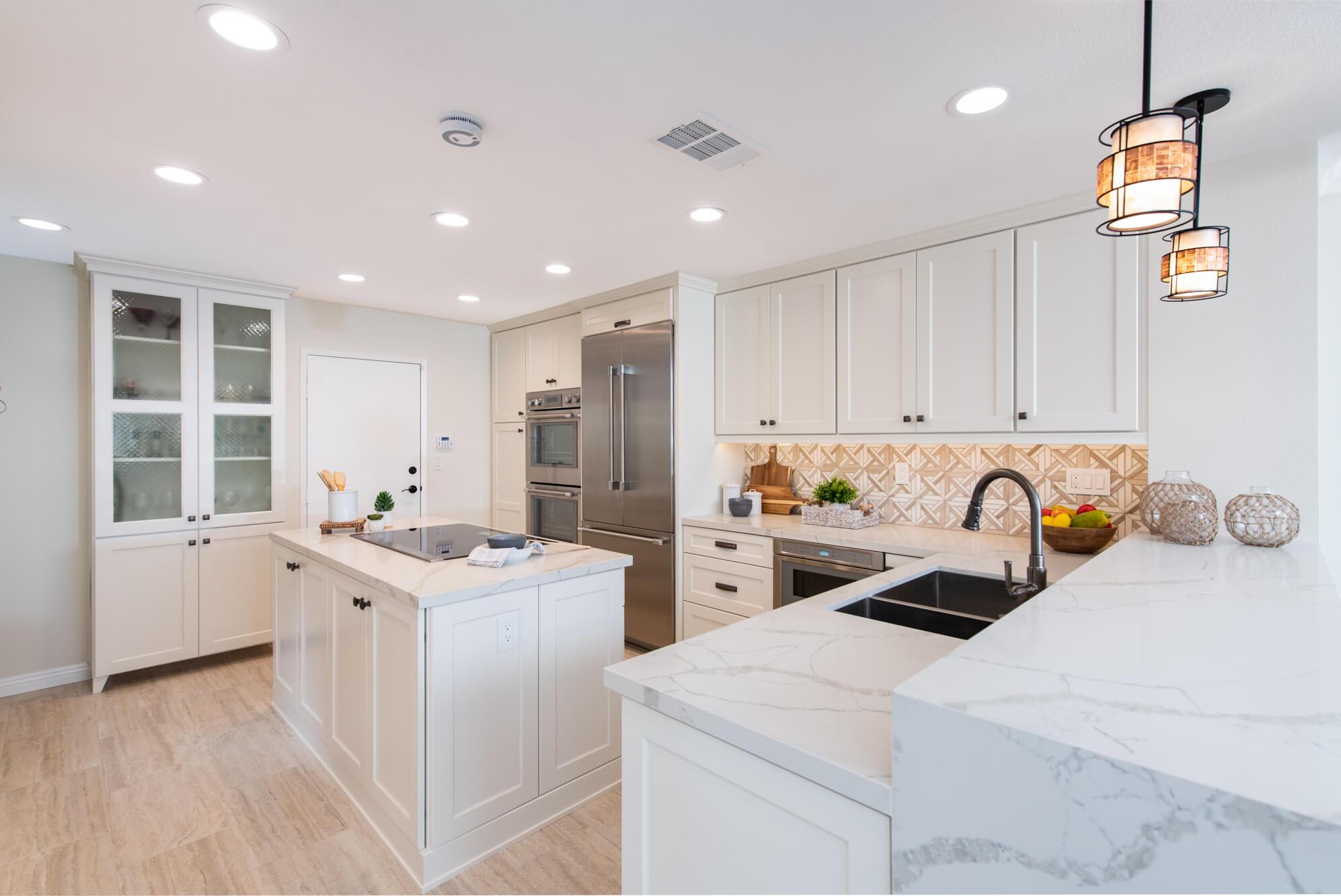 Newport Beach Kitchen Remodel With Island