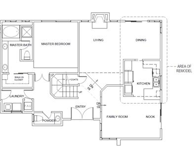 structural kitcehn remodel as-built floor plan