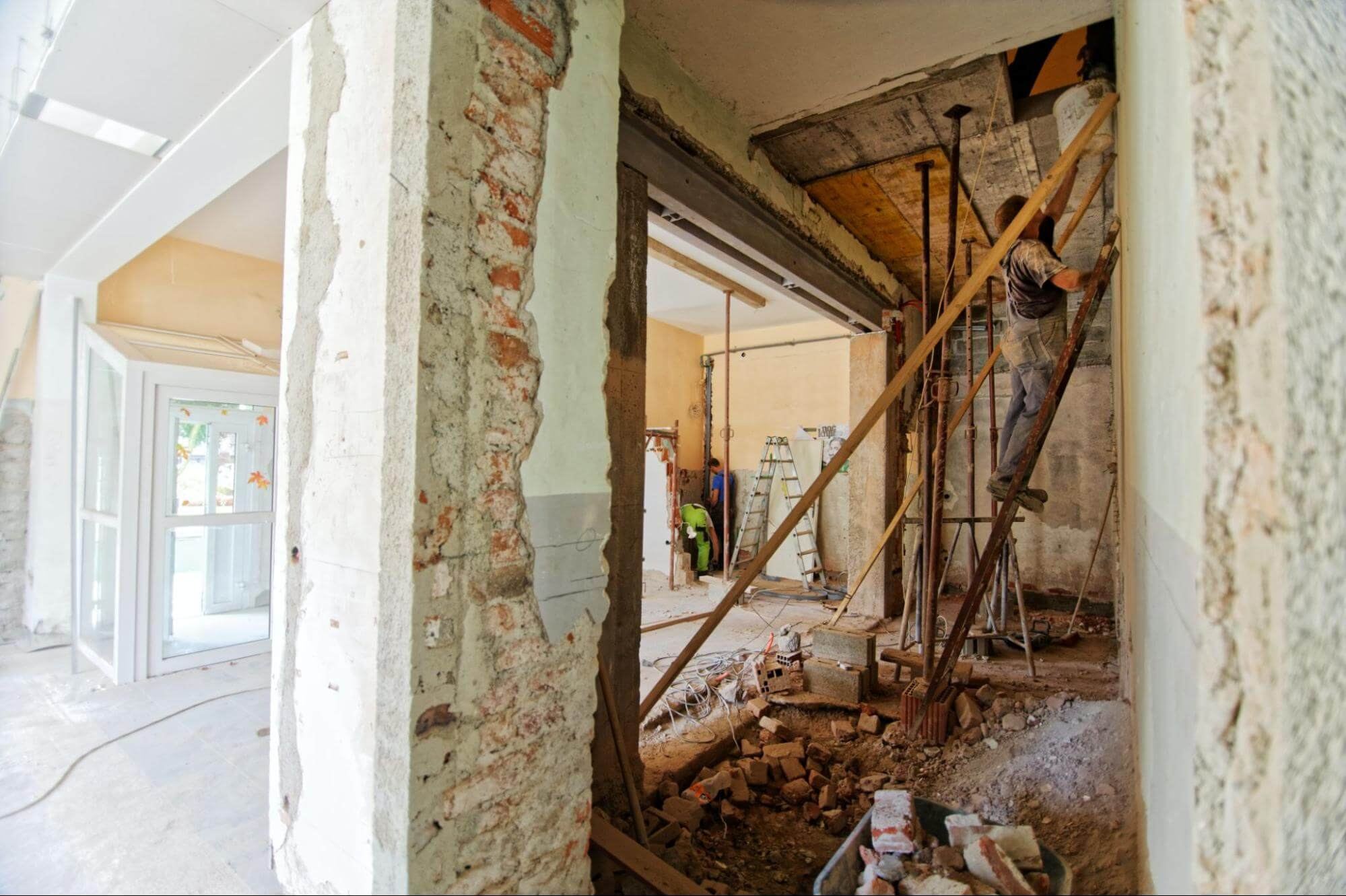 a house undergoing a remodeling