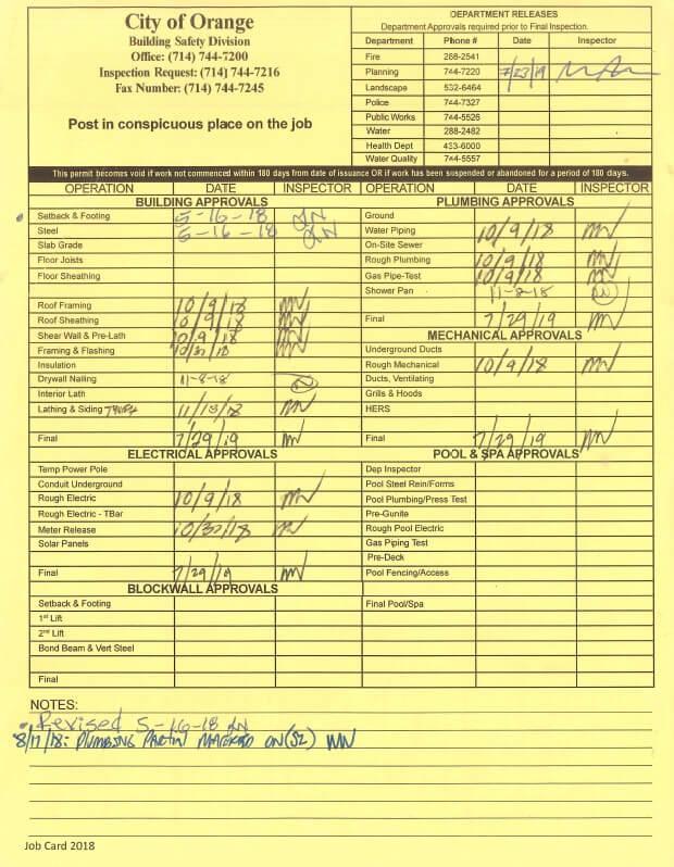 kitchen remodeling permit, Orange, California