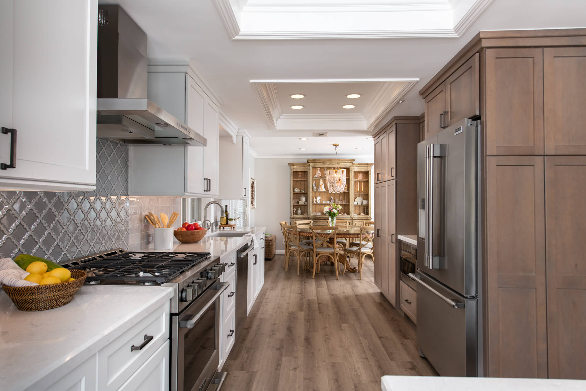Two Toned Cabinets in Coastal Kitchen
