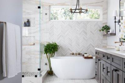 Luxurious Spa-Like Master Bathroom Remodel in Orange