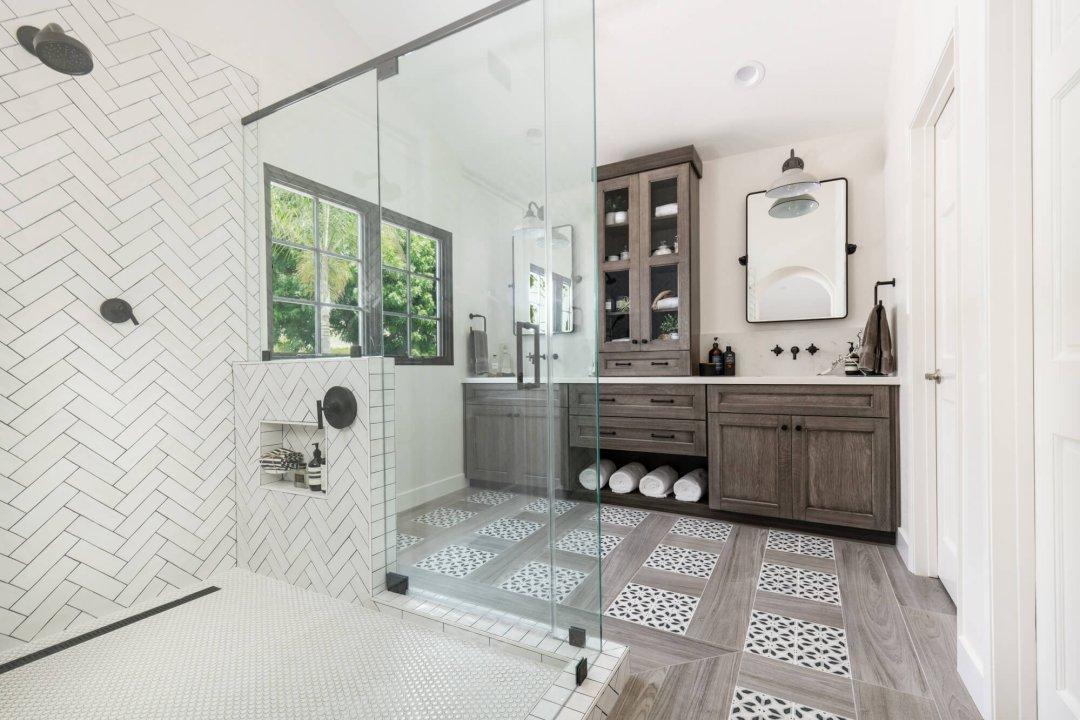 Modern Rustic Master Bathroom Remodel in San Juan Capistrano