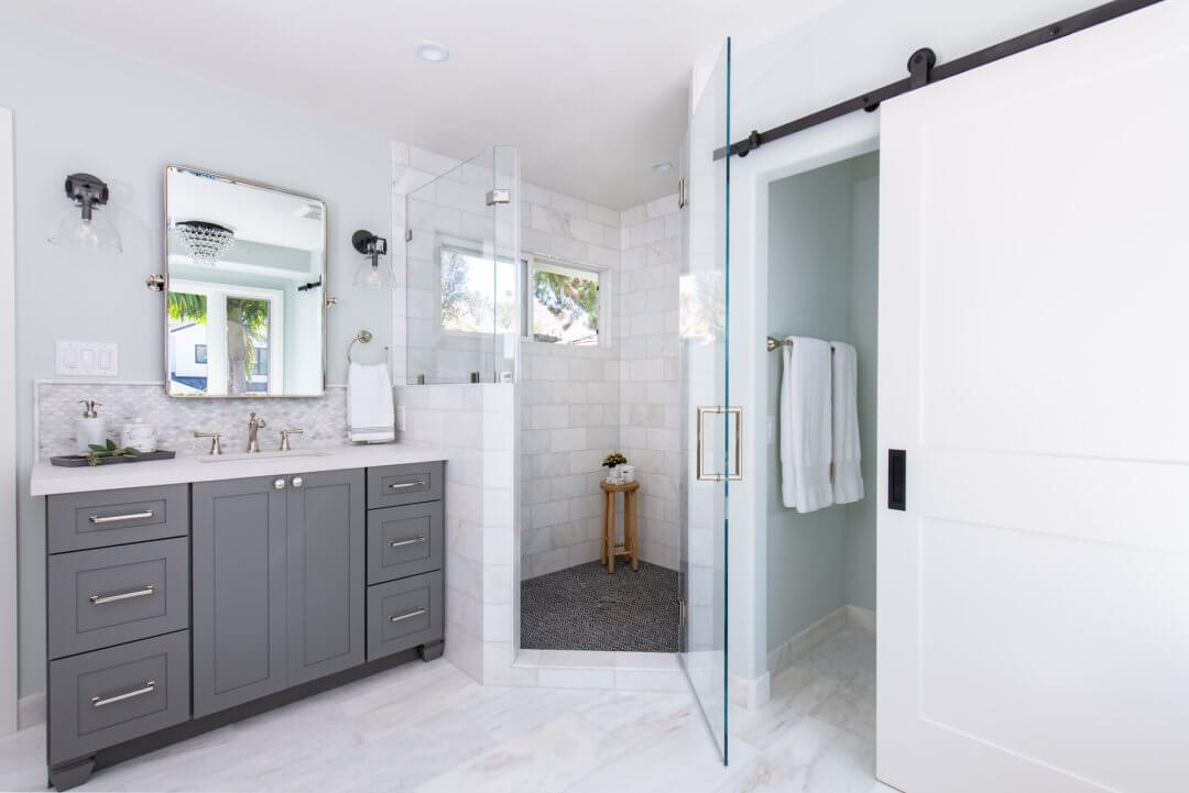 Stunning New Traditional Master Bathroom Remodel in Irvine