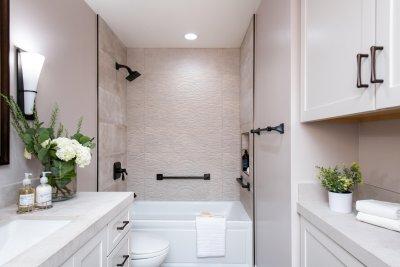 Charming Laguna Hills Master Bathroom Remodel with Spa-Like Design